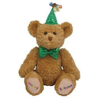 TY Beanie Buddy   HAPPY BIRTHDAY the Bear (Green Hat & Tie) Toys & Games