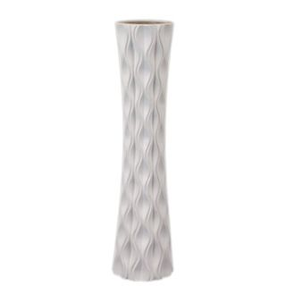 Ceramic White Vase Urban Trends Collection Vases