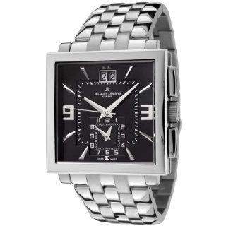 Jacques Lemans Men's GU207D Geneve Collection Quadrus Stainless Steel Watch Jacques Lemans Watches