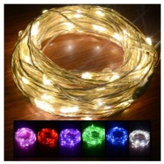 Pink 4 Pin Connector 10m 207 LED Silver String Light Wedding Party Christmas Decorating Light Dc 12v Input