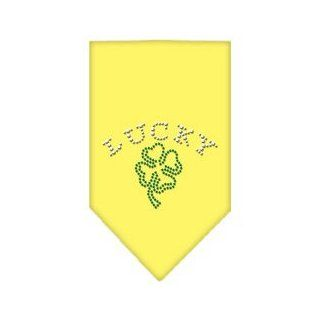 Four Leaf Clover Rhinestone Bandana Yellow Small  Pet Bandanas