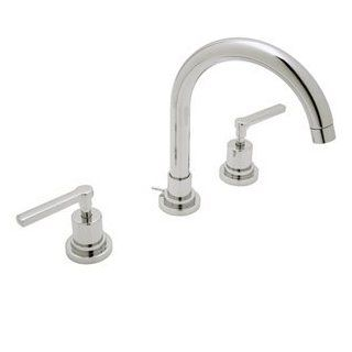 "Rohl A2208 LMAPC Polished Chrome Bathroom Faucets 8"" Widespread C Spout Lav Lever Handles Faucet"