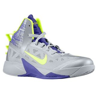 Nike Zoom Hyperfuse 2013   Mens   Basketball   Shoes   Wolf Grey/Court Purple/Volt