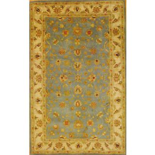Indo Mahal Hand tufted Light Blue/ Ivory Rug (5'3 x 8'2) Herat Oriental 5x8   6x9 Rugs