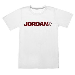 Jordan Go Two Three Ele Print T Shirt   Boys Grade School   Basketball   Clothing   White/Gym Red/Black