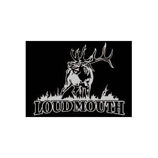 Loudmouth Upstream Images Silver Vinyl Wildlife Car Truck Window Decal Sticker Automotive