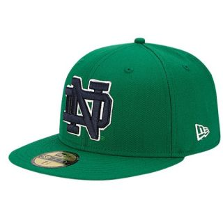 New Era College 59Fifty League Basic Cap   Mens   Basketball   Accessories   Notre Dame Fighting Irish   Fairway Green