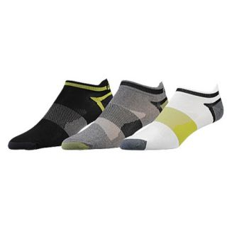 ASICS� Quick Lyte Low Cut 3 Pack Socks   Mens   Running   Accessories   Heather Iron Assorted
