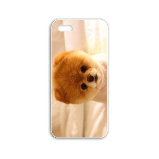 Diy Apple Iphone 5/5S Animals Series Cute dog boo wide Animals Birds Cute Animals Black Case of Unique Cellphone Shell For Men Cell Phones & Accessories