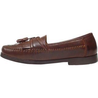 Men's Deer Stags Herman Dark Maple Leather/Synthetic Deer Stags Loafers
