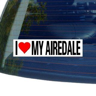 I Love Heart My AIREDALE   Dog Breed   Window Bumper Sticker Automotive