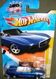 2011 HOT WHEELS NEW MODELS 14/50 BLUE CONVERTIBLE '63 FORD MUSTANG II CONCEPT (HOT WHEELS FOR REAL CARD) 14/244 Toys & Games