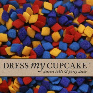 Dress My Cupcake DMC27382 Decorating Edible Cake and Cookie Confetti Sprinkles Bulk, Multi Colored Diamonds, 5 Pound Kitchen & Dining