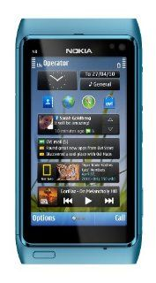 Nokia N8 Unlocked GSM Touch Screen Phone with GPS, Voice Navigation and 12MP Camera (Blue) Cell Phones & Accessories