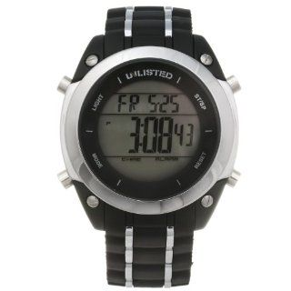 Unlisted by Kenneth Cole Men's White Rubber Strap Digital Watch UL1206 Watches