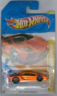 2012 Hot Wheels New Models '12 Lamborghini Aventador Orange #12/247 Toys & Games