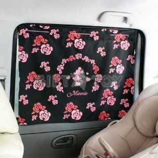 Disney Minnie Mouse Silhouette Car Side Window Curtain Style Sunshade 2pcs  Rose Automotive