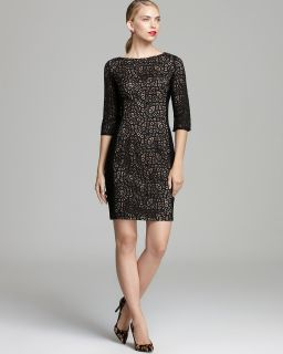 Anne Klein Lace Overlay Sheath Dress   Elbow Sleeve's
