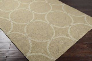 Area Rug 8x8 Round Indoor/Outdoor Sage Color   Surya Rain Rug from RugPal