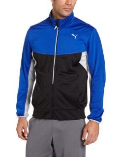 PUMA Men's Full Zip Track Jacket, Medieval Blue/Quarry, XX Large Clothing