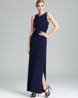 Laundry by Shelli Segal Sleeveless Necklace Jersey Gown's