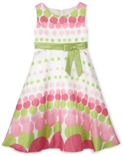 Rare Editions  Girls 7 16 Dotted Party Dress,Fuchsia/Lime,12 Clothing