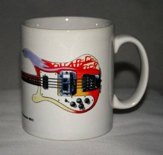 Guitar Mug. Paul McCartney's 1964 Rickenbacker 4001S Bass illustration. Kitchen & Dining