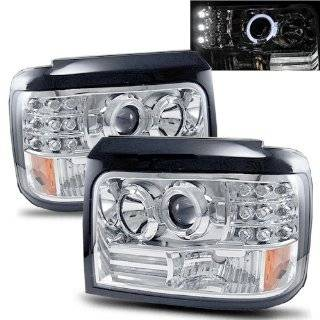 Ford Bronco Chrome LED Halo Projector Headlights /w Side Markers & Parking Lights Automotive