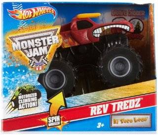 Hot Wheels Monster Jam EL TORO LOCO Rev Tredz Official Monster Truck Series 143 Scale Toys & Games
