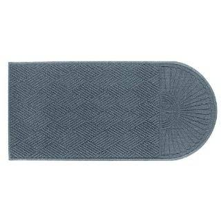 "Andersen 272 Waterhog Grand Classic Polypropylene Fiber Half Oval Entrance Indoor/Outdoor Floor Mat, SBR Rubber Backing, 2.3' Length x 4' Width, 3/8"" Thick, Bluestone"