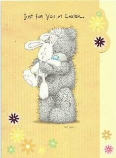 "5x7"" Easter card   Me to You Tatty Teddy Card   Just for you at Easter"