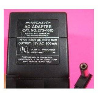 ARCHER AC Adapter power supply transformer 273 1610 Electronics