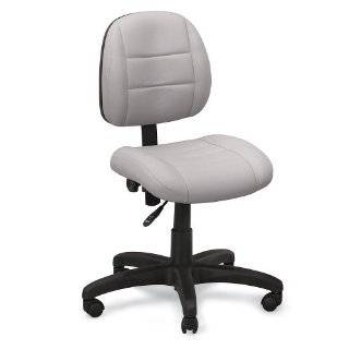 "Relius Solutions Leather Chair   17 1/2 A""23 1/2"" Seat Height   Aluminum Base   Floor Pods   Gray"