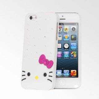 Hello Kitty Rhinestone iPhone 5S/5 Cases   White Cell Phones & Accessories
