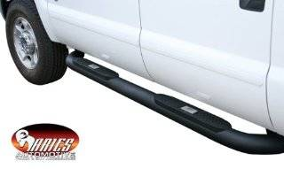 2007 2012 Toyota TUNDRA DOUBLE CAB Aries Black Textured Big Step Bar Automotive