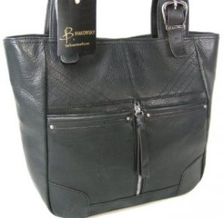 B Makowsky Purse Large Tote Hand Bag Genuine Black Leather Jenna $298 Shoes