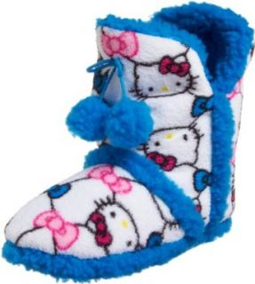 Hello Kitty Women's Short Bootie, White, X Large Clothing