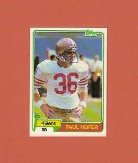 Paul Hofer 1981 Topps Football #302 (San Francisco 49ers)