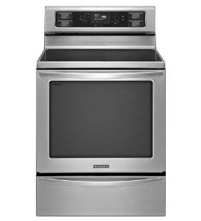 "KitchenAid KERS306BSS Architect II 30"" Stainless Steel Electric Smoothtop Range   Convection Appliances"