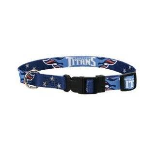 Tennessee Titans Adjustable Pet Dog Collar (Large) Sports & Outdoors