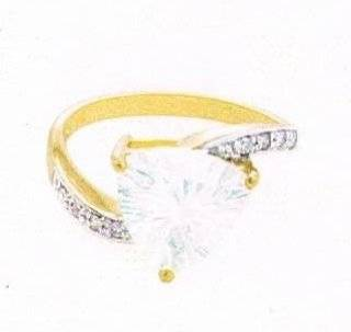 14k Blue Moon Quartz & Diamond Yellow Gold Ring Size 8   Jewelry Trays
