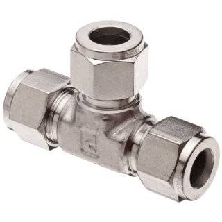 "Parker A LOK 4ET4 316, 316 Stainless Steel Compression Fittings Union Tee 1/4"" Tube"