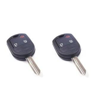 LOT 2pcs Uncut blank 3 Buttons Repair smart Remote fob Key Shell CASE For 2001 2002 2003 Ford Windstar