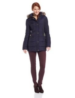 Anne Klein Women's Francis Down Coat, Black, Small