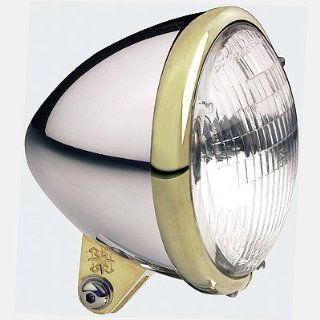 Headwinds 1 5100ABBA 5 3/4 Standard Bullet Headlight Aluminum with Brass Ring Automotive