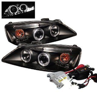 High Performance Xenon HID Pontiac G6 2/4DR Halo LED ( Replaceable LEDs ) Projector Headlights with Premium Ballast   Smoke with 10000K Deep Blue HID Automotive