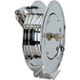 "Coxreels P LPL 335 SS Stainless Steel Spring Rewind Hose Reel 3/8"" I.D., 35' hose capacity, less hose, 300 PSI Air Tool Hose Reels"