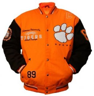 "NCAA Unisex Adult Clemson Tigers Licensed ""Collegiate"" Varsity Jackets Clothing"