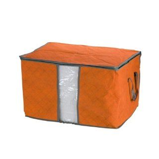 Orange Quilt Blanket Pillow Under Bed Storage Bag Box Container Non woven Fabric   Underbed Storage