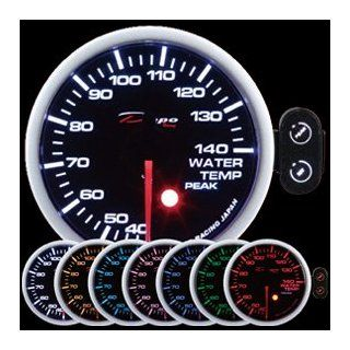60mm Depo Racing 7 Color green blue Warning Water Temp Gauge Automotive